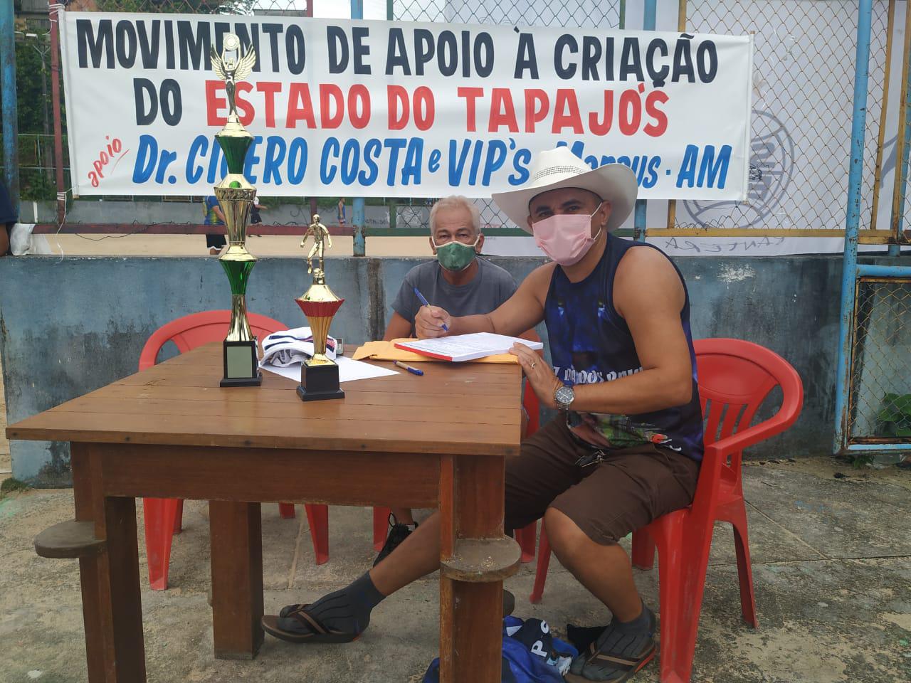 Associação de Paraenses no Amazonas promove coleta de assinaturas pró estado do Tapajós em Manaus.