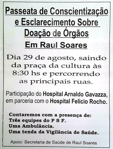 passeata sobre doação de órgãos
