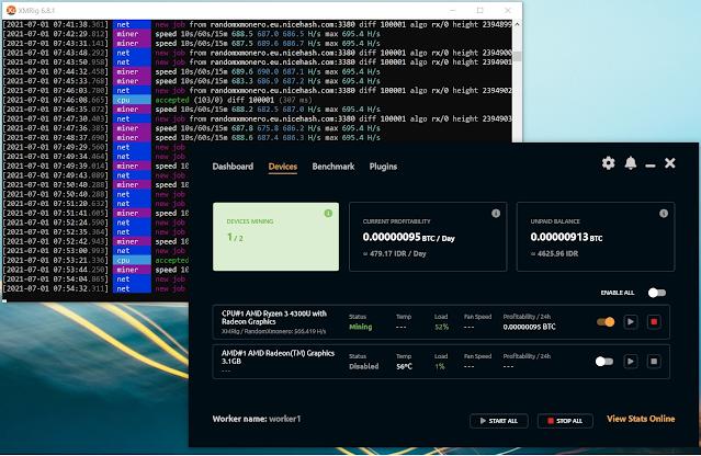 mining kripto hp probook x360 435 g7