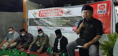Mahfudz Abdurrahman Laksanakan Sosialisasi 4 Pilar MPR RI Bersama Para Pelestari Budaya Silat di Perguruan Silat Sumur Tujuh Jakasampurna Kota Bekasi