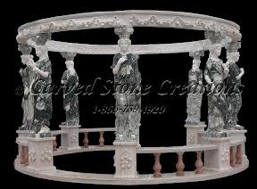 carved stone, Exterior, Gallery, Gazebo, Gazebos, Landscape Decor, Statue