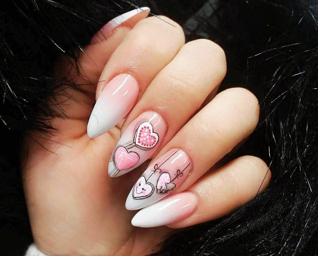 Cute Valentine's Day Nail Art  2018 Designs