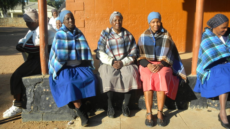Seen at the wedding we attended at the Kgotla Women must wear traditional clothes
