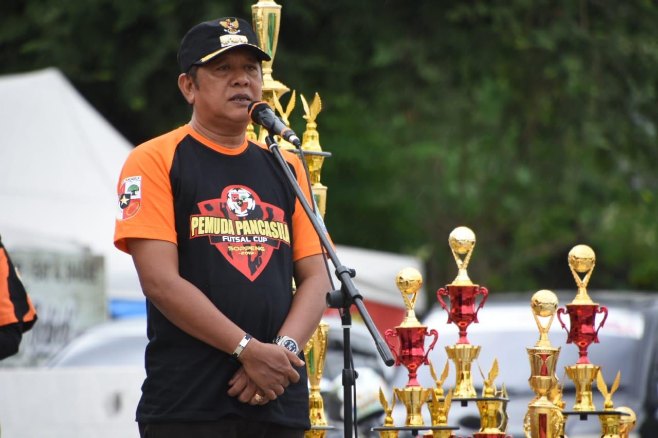 Bupati Soppeng Pertanyakan Dua Desa Tidak Ikut Berpartisipasi Event Futsal CUP