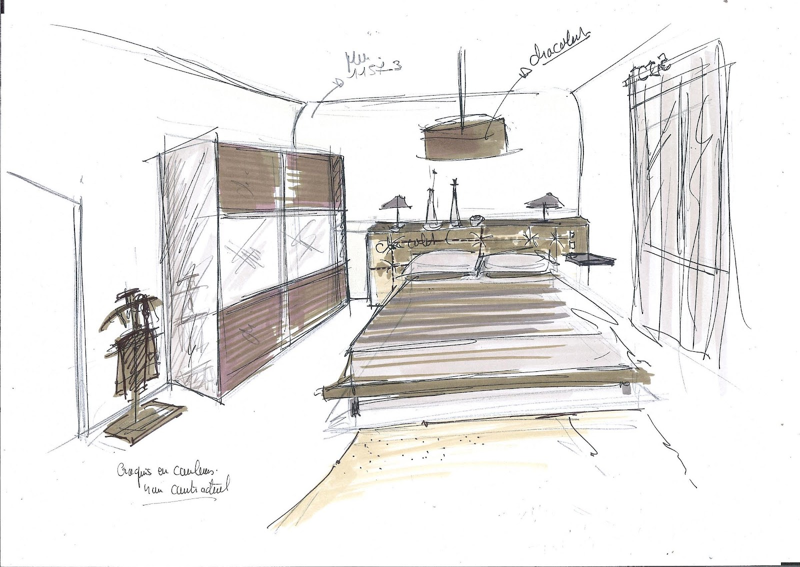 dessins croquis d coratrice vannes corinne le dorze agence de d coration d 39 int rieur. Black Bedroom Furniture Sets. Home Design Ideas