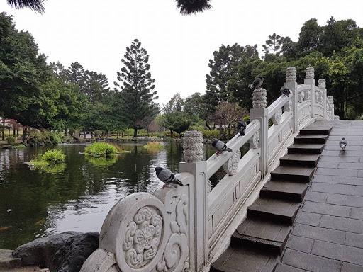 Bridge in the park of CKS Memorial Hall in Taipei Taiwan