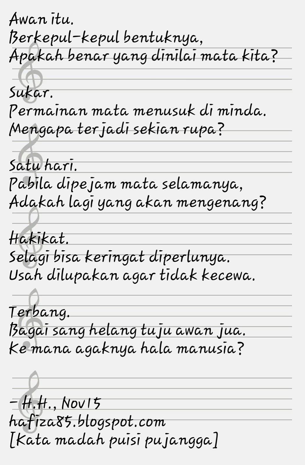 Puisi Pujangga : puisi, pujangga, Hafiza, Hussin, Coretan, Puisi, Bulan, November
