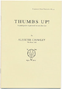 Cover of Aleister Crowley's Book Thumbs Up