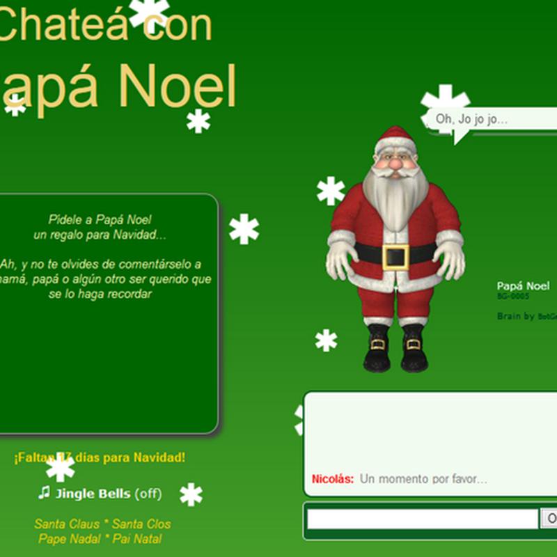 El chat de Santa, chatea gratis