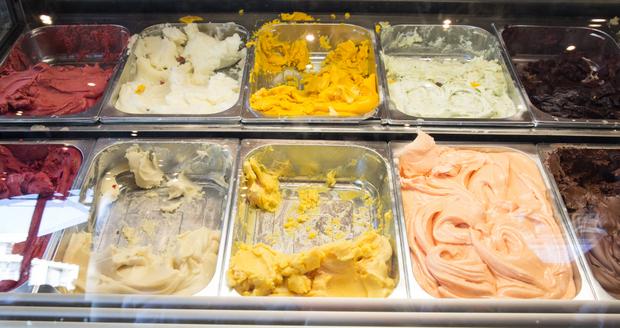photo of the gelato display