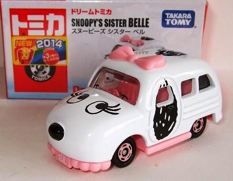 Đồ chơi Mô hình xe ô tô Dream Tomica Snoopy's Sister Belle của hãng Takara Tomy Nhật Bản