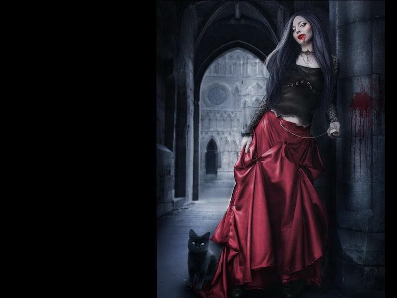 Fantasy Vampire Girl And A Cat, Vampire Girls 2