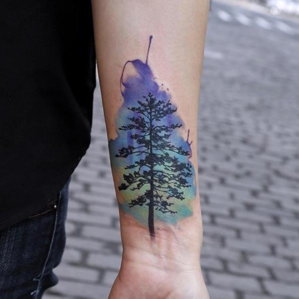 Esta aquarela árvore