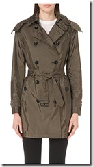 Burberry technical taffeta trench coat