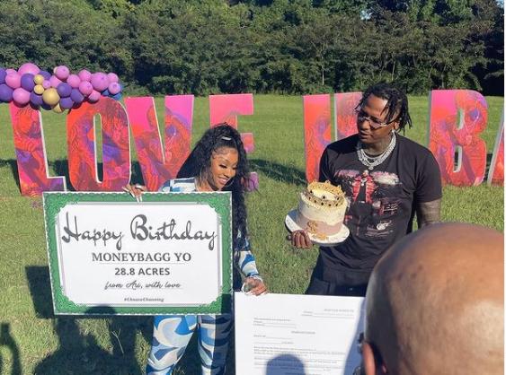 Rapper Moneybagg Yo's Girlfriend, Ari Fletcher Buys Him 28.8 Acres Of Land For His Birthday