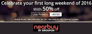NearBuy - Get Extra 50% Off on Product deals (on orders abive Rs. 350 Off)