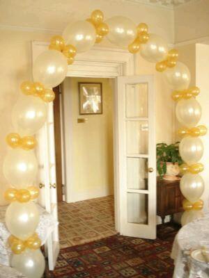 M s y m s manualidades c mo hacer un arco usando globos - Como decorar columnas ...