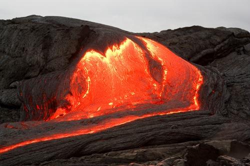 oozing lava
