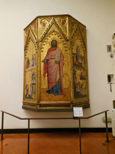 Tríptico de San Mateo de Andrea Orcagna en la Galería de los Uffizi en Florencia
