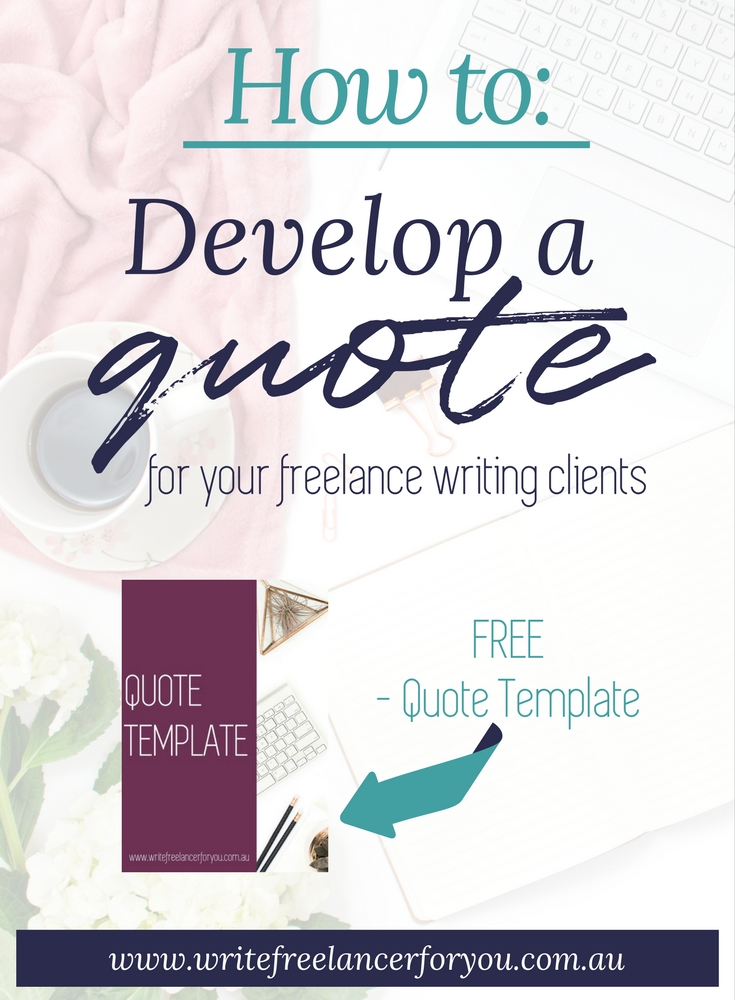 quote, create a quote, quoting freelance clients