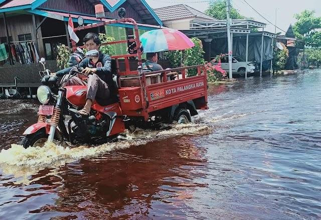 Luapan Sungai Kahayan dan Rungan Rendam 12 Kelurahan di Palangka Raya