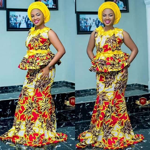 63144f3b943f1c Latest Ankara Styles Skirt and Blouse Collection 2018. »