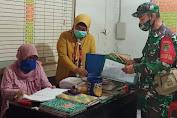 Cek Perkembangan Wilayah Binaan, Babinsa Kodim 0619/PWK Laksanakan Komsos Dan Puldata Ter