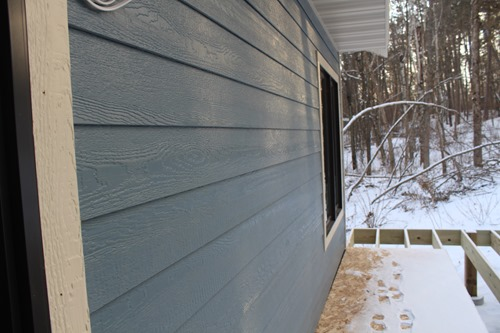 siding on porch