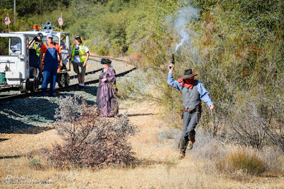 AMC History Run 2018, Train Robbery at Robber's Roost (Lane's Station) on 10-27-2018