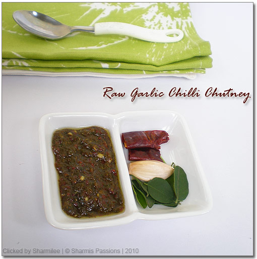 Raw Garlic Chilli Chutney Recipe