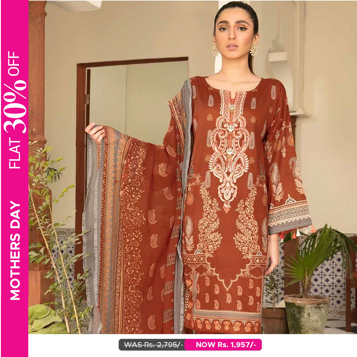 Warda Sale 2021 Flat 30% Off - Mother's Day Offer