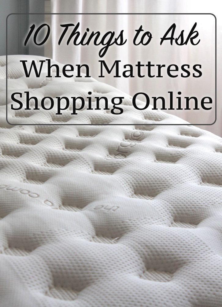 10 things to ask when mattress shopping online