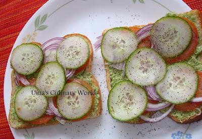 desi veg chutney sandwich