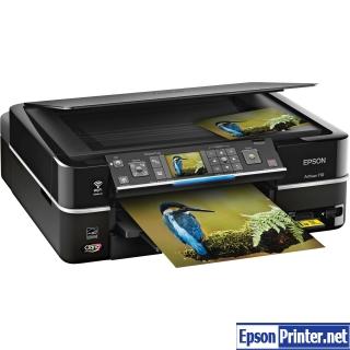 How to reset Epson Artisan 710 printer