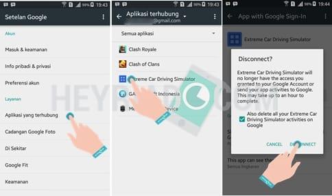 Pada aplikasi yang sanggup dipakai secara offline Cara Menghapus Aplikasi Terhubung ke Google