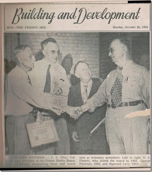 Realtors Honored Fresno Bee 10_26_1962