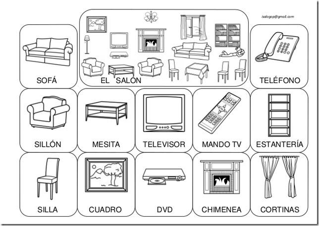 Fichas para colorear cosas de la casa for Casas y cosas