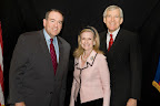 Mike Huckabee, Laura Leppert and Dallas Mayor Tom Leppert