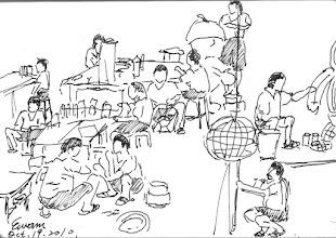 Photo: 安農工坊2010.10.19鋼筆 宜蘭監獄的花燈是全國出名的,都是由才藝工場裡數十名受刑人一點一滴親手做成,只是私下有收容人告訴我,出監後這些技能和經驗並不能幫他討生活,刑事政策和處遇有時只是理想,並無法跟現實接軌