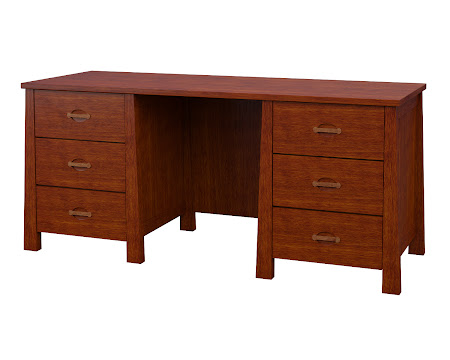 Luxor Executive Desk in Dakota Maple