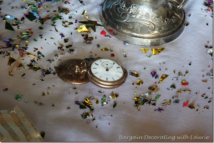 Vintage Pocket Watch for New Years Table