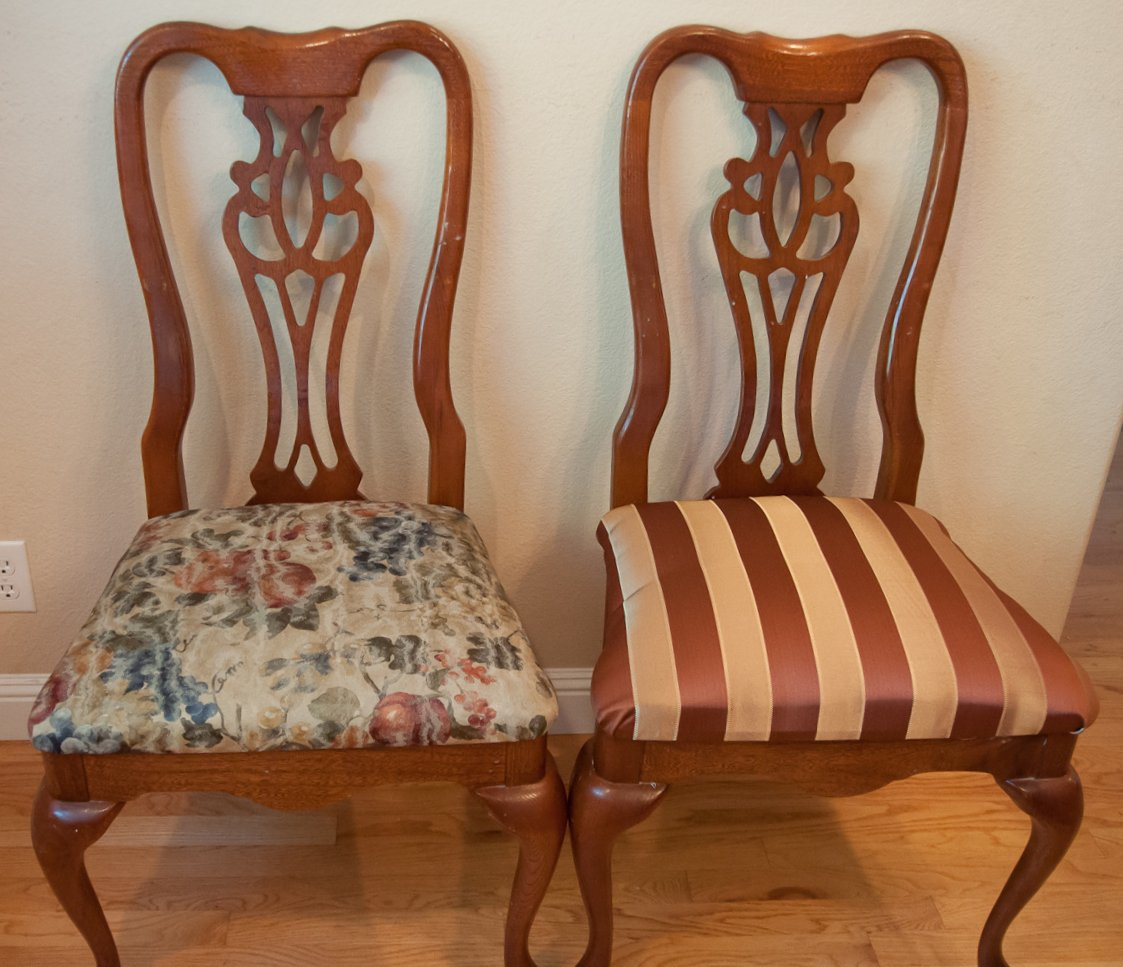 dining room chairs reupholstered – musings of the dings