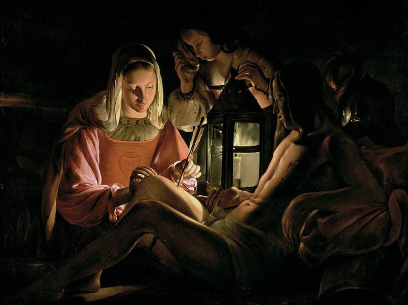 Georges de La Tour - Irene Healing St. Sebastian