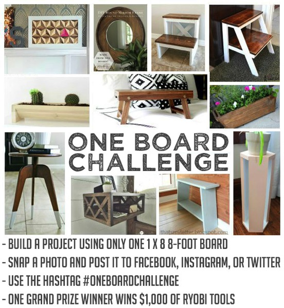 Enter to Win $1000 worth of tools.  Just create ANYTHING with a single board and share it with us!