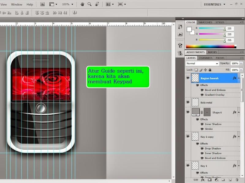 Belajar Photoshop Desain Blackberry