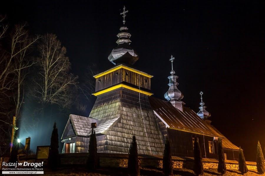 Drewniana cerkiew w Polanach