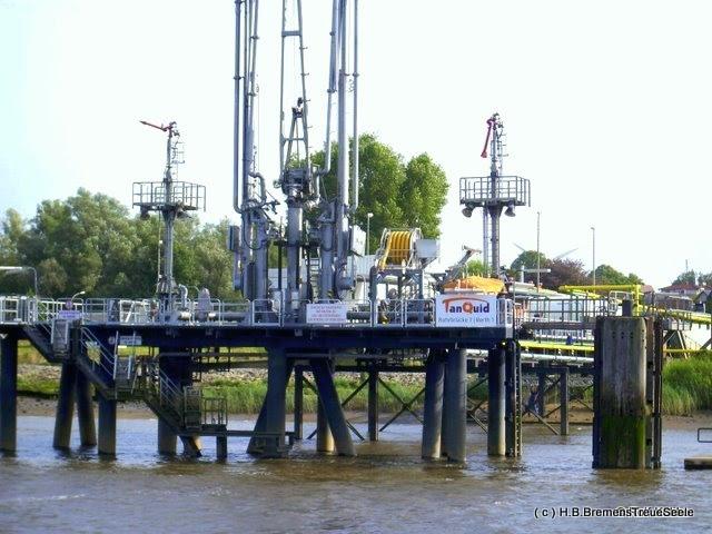 Tanklager Farge, Entladestation an der Weser