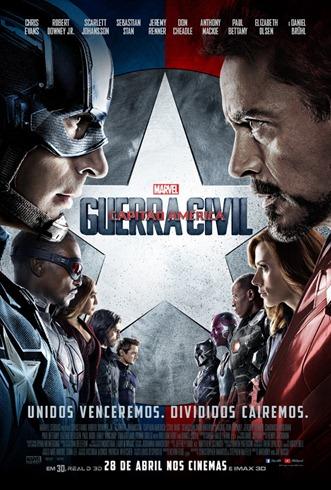Capitão América - Guerra Civil - Pôster nacional