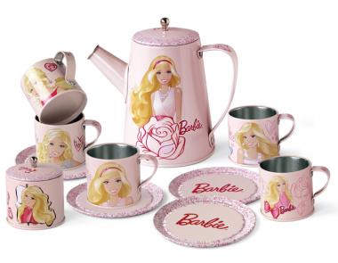 Bộ ấm trà hoa hồng Barbie Cay Seti