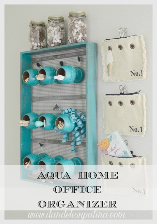 Dandelion-Patina-aqua-home-office-organizer